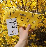 Косметичка Пенал Cats 10,5 х 22 см., Yellow (123198)