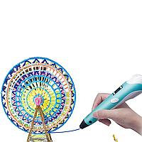 Горячая 3-D ручка PEN-2 с Led дисплеем (ГОЛУБАЯ)