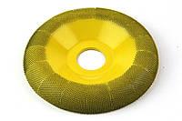 Обдирочный диск SABURRTOOTH 100x22 мм, полукруглый. Мелкая зернистость.