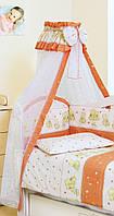 Для детской кровати балдахин Twins Сomfort Мишки с звездами C-118, 160х400 см., терракотовый