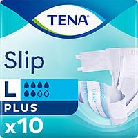 Tena подгузники для взрослых Slip Plus Large 92-144 см 10 шт