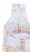 Балдахин в детскую кроватку Twins Сomfort Жирафки C-124, 160х400 см.