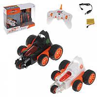Трюковая детская машинка-перевертыш ZC Toys на аккумуляторе, оранжевая