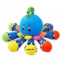 """Мягкая плюшевая игрушка для малышей Baby Mix TE-7719-20 """"Осьминог"""", голубая (1711)"""