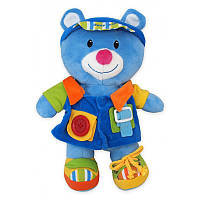 Плюшевая мягкая игрушка для самых маленьких Baby Mix Мишка TE-9823-25A, голубая (T4036)