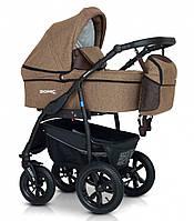 Детская универсальная коляска 3 в 1 Verdi Sonic Plus, коричневая (8871)