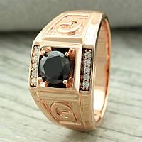 Печатка мужская Xuping. Золото розовое (покрытие) 585 пробы. 22 размер, фото 1