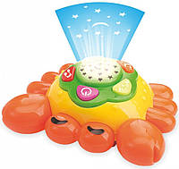 Детский светильник ночник-проектор музыкальный Baby Mix PL-381457 Краб, оранжевый