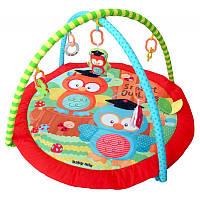 Коврик детский развивающий с игрушками Baby Mix Совы в школе TK/3429PP