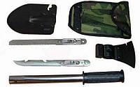 Набор походный 5 в 1 Лопата, штык-нож, пила, топор, открывашка (529)