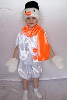 Карнавальний костюм Сніговика з атласу для дітей від 3 до 6 років
