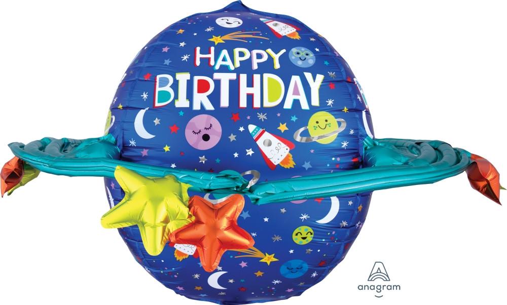 """A 29"""" Сфера Happy Birthday Foil Balloon (С Днём Рождения Фольгированый Шар), В УП"""