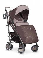 Детская прогулочная коляска-трость с удлиненным капюшоном Euro Cart Cross Line, коричнево-бежевая