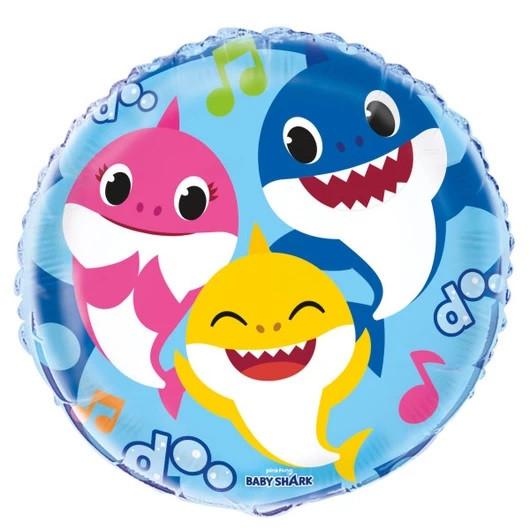"""UN 18"""" Pinkfong Baby Shark Foil Balloon Packaged (Фольгированный Шар Малыш Акула)"""