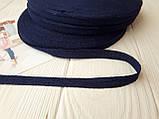 Киперная лента серая 10мм хлопчатобумажная, ширина 1см, цвет серый меланж, для отделки швов изделий, фото 3