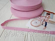 Киперная лента розовая 10мм хлопчатобумажная, ширина 1см, цвет розовый, для отделки швов изделий