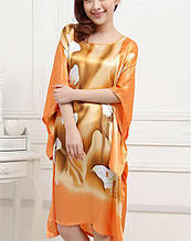 Шелковое  платье кимоно коалы