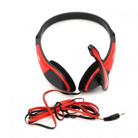 Наушники проводные VIDEX VHD-135M с микрофоном black/red
