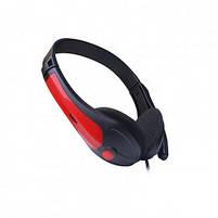 Наушники проводные VIDEX VHD-135M с микрофоном black/red, фото 3