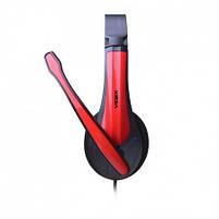 Наушники проводные VIDEX VHD-135M с микрофоном black/red, фото 4