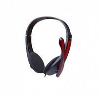 Наушники проводные VIDEX VHD-135M с микрофоном black/red, фото 5
