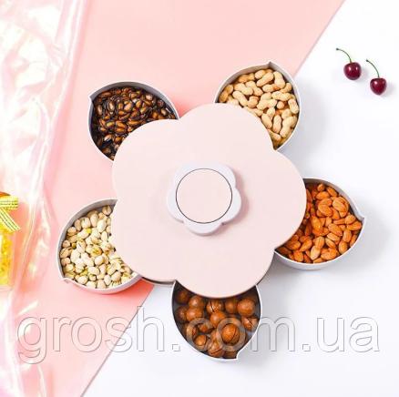 Вращающаяся тарелка для закусок фруктов и сладкого, Посуда, Менажница в виде цветка
