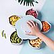 Вращающаяся тарелка для закусок фруктов и сладкого, Посуда, Менажница в виде цветка, фото 3