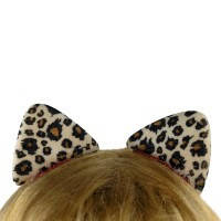 Заколка для волос Ушки леопарда