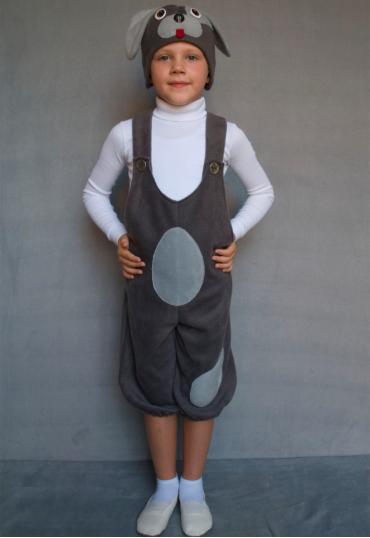 Детский карнавальный костюм Собачка из флиса от 3 до 6 лет