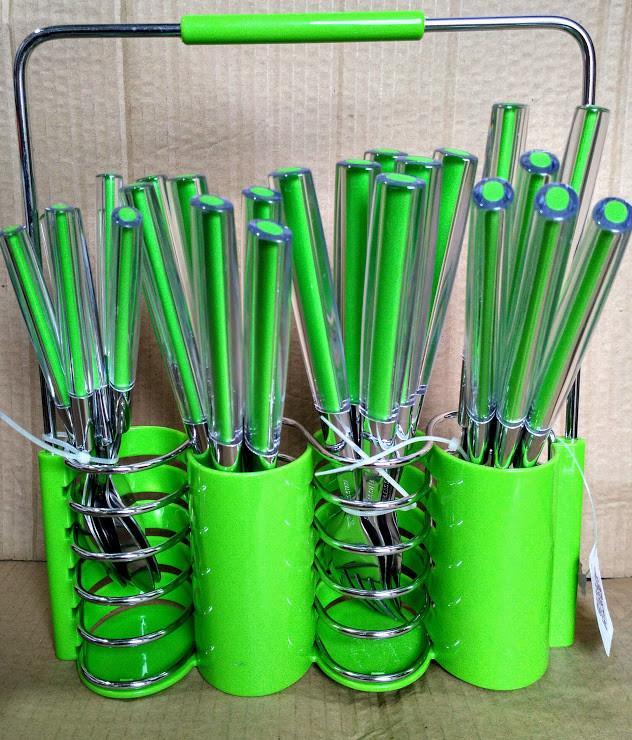 Набор столовых приборов Peterhof PH-22108 A green