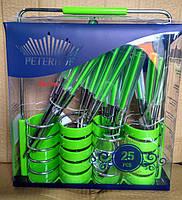 Набор столовых приборов Peterhof PH-22108 A green, фото 3