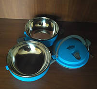 Ланч-бокс Peterhof PH-12415-14 blue 1,4 л., фото 9
