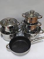 Набор посуды Bohmann BH 1275 MRB 12 предметов, фото 2
