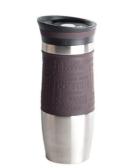 Термокружка Peterhof PH-12414 brown  0,4 л.