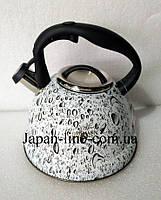 Чайник со свистком Bohmann BH 9904 gray 3 л., фото 3