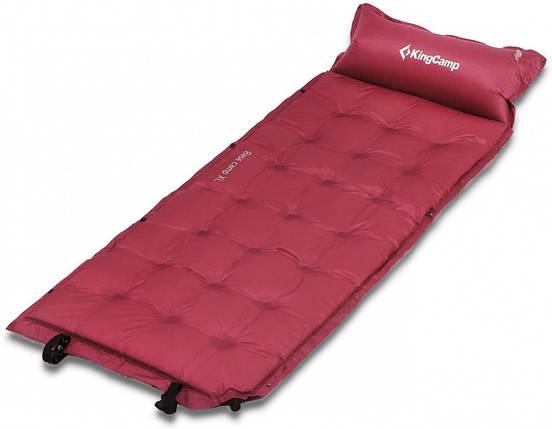 Самонадувающийся коврик KingCamp Base Camp Comfort (KM3560) Wine red, фото 2