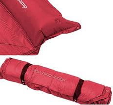 Самонадувающийся коврик KingCamp Base Camp Comfort (KM3560) Wine red, фото 3