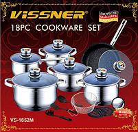 Набор посуды 18 предметов Vissner VS 1852 M, фото 2