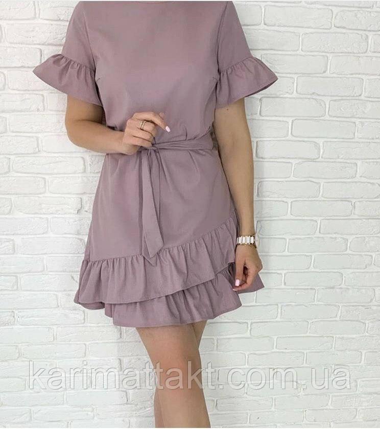 Платье волан-рукав