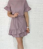 Платье волан-рукав, фото 1