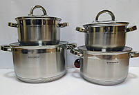 Набор посуды Vissner VS 10810 8 пр. (2,1 л. 2,9 л. 3,9 л. 6,5 л.), фото 2