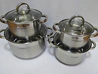 Набор посуды Vissner VS 10810 8 пр. (2,1 л. 2,9 л. 3,9 л. 6,5 л.), фото 3
