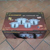 Набор посуды Vissner VS 10810 8 пр. (2,1 л. 2,9 л. 3,9 л. 6,5 л.), фото 4