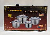 Набор посуды Vissner VS 10810 8 пр. (2,1 л. 2,9 л. 3,9 л. 6,5 л.), фото 6