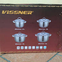 Набор посуды Vissner VS 10810 8 пр. (2,1 л. 2,9 л. 3,9 л. 6,5 л.), фото 7