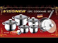 Набор посуды Vissner VS 1250 12 пр, фото 3
