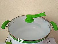 Кастрюля Peterhof PH-15780-28 green 8,1 л., фото 7