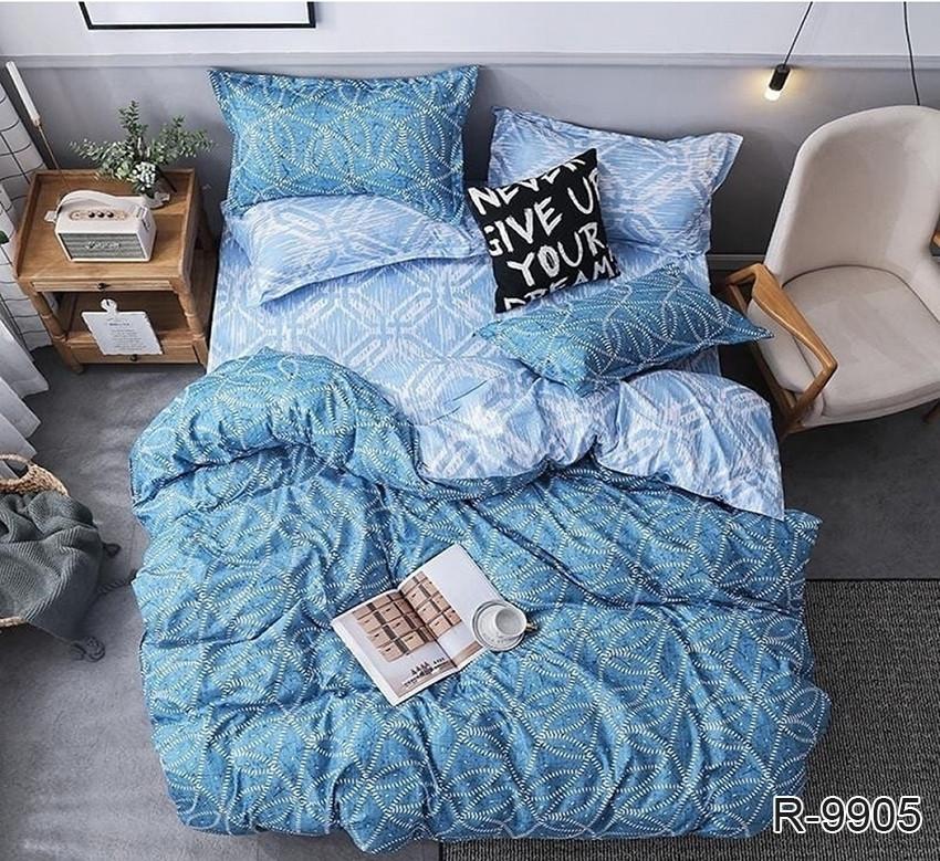 Полуторный комплект постельного белья - ранфорс с компаньоном R9905