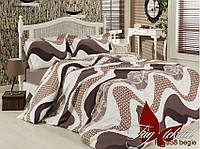 Полуторный комплект постельного белья - ранфорс R6958 begie