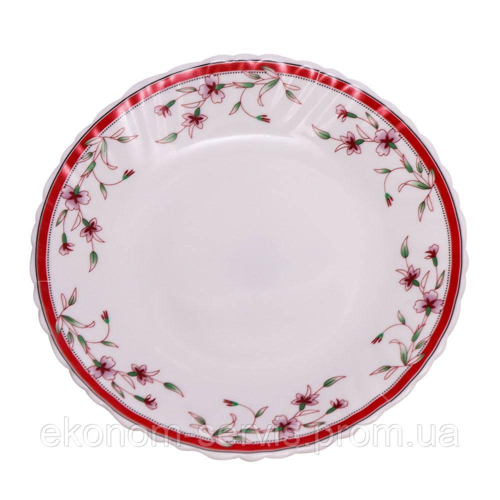 Тарелка стеклокерамическая с принтом Полевые цветы 7,5' (6 штук в наборе)